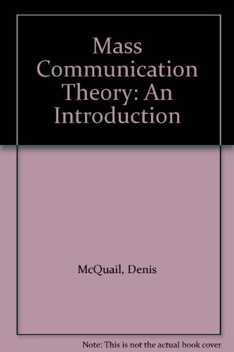 9780803997707: Mass Communication Theory: An Introduction