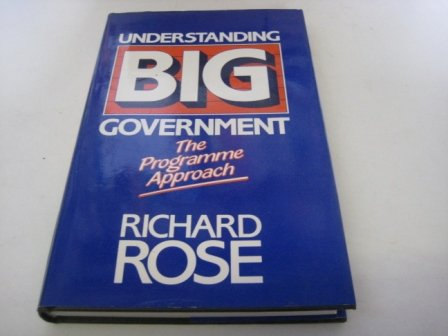 9780803997783: Understanding Big Government: The Programme Approach (Sponsored by ECPR)
