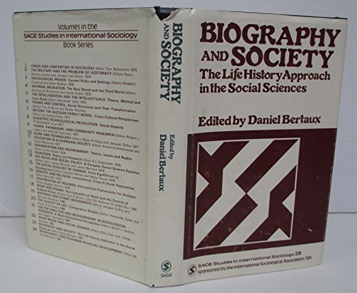 9780803998001: Biography and Society