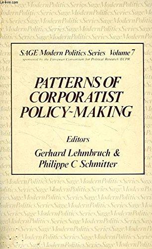 9780803998322: Patterns of Corporatist Policy-Making (SAGE Modern Politics series)
