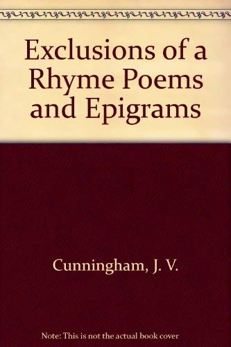 9780804001021: Exclusions of a Rhyme Poems and Epigrams