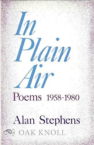 9780804003797: In Plain Air: Poems 1958-1980