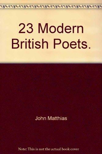 23 Modern British Poets.: John Matthias