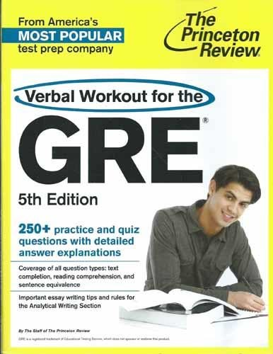 9780804125017: Verbal Workout for the GRE, 5th Edition (Graduate School Test Preparation)
