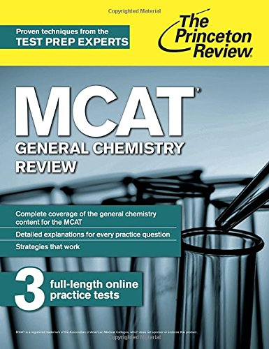 9780804125062: MCAT General Chemistry Review: New for MCAT 2015 (Graduate School Test Preparation)
