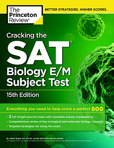 9780804125628: Cracking the SAT Biology E/M Subject Test, 15th Edition (College Test Preparation)