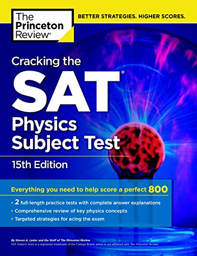 9780804125666: Cracking the SAT Physics Subject Test, 15th Edition