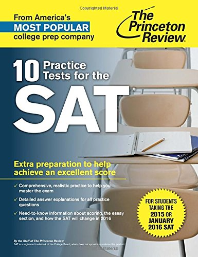 9780804126090: 10 Practice Tests for the SAT: For Students taking the SAT in 2015 or January 2016 (College Test Preparation)