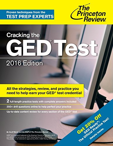 9780804126106: Cracking the GED Test with 2 Practice Exams, 2016 Edition (College Test Preparation)