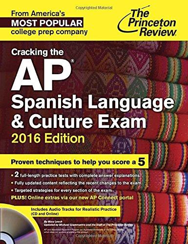 9780804126243: Cracking the AP Spanish Language & Culture Exam with Audio CD, 2016 Edition (College Test Prep)
