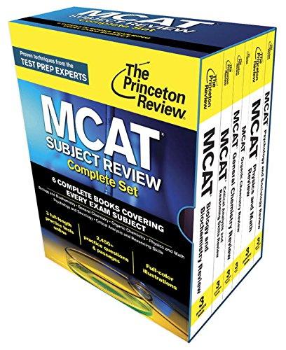 9780804126328: Princeton Review MCAT Subject Review Complete Box Set: New for MCAT 2015 (Graduate School Test Preparation)
