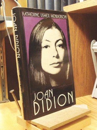 9780804423700: Joan Didion (Modern Literature Series)
