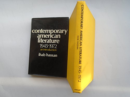 Contemporary American Literature, 1945-1972; An Introduction