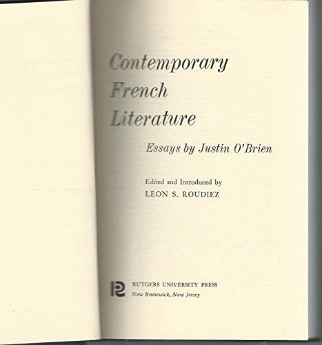 9780804432559: Contemporary French Literature: 1945 And After