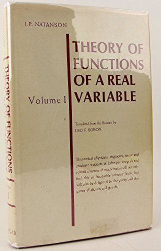 9780804447034: Theory of Functions of a Real Variable, Vol. 1