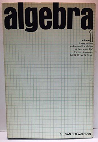 9780804449502: Algebra: v. 1