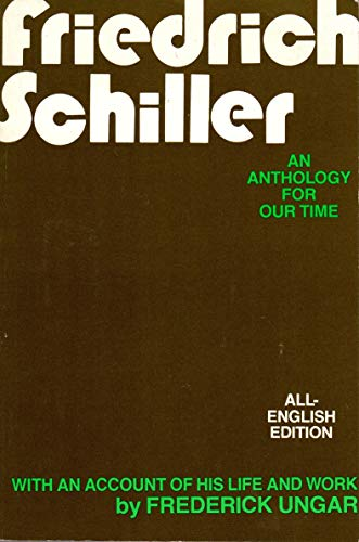 9780804468244: Friedrich Schiller: An Anthology for Our Time