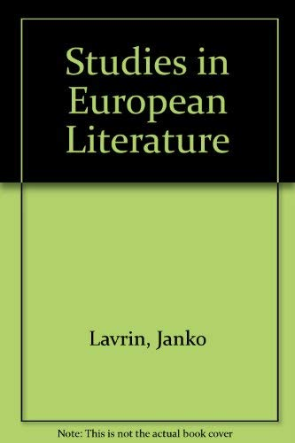 9780804608671: Studies in European Literature