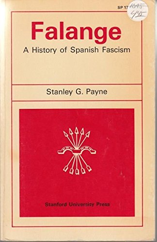 9780804700597: Falange a History of Spanish Fascism