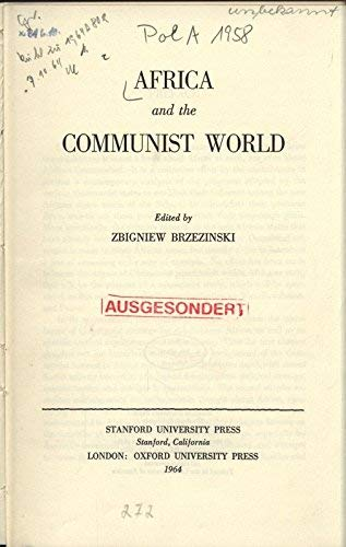 9780804701792: Africa and the Communist World