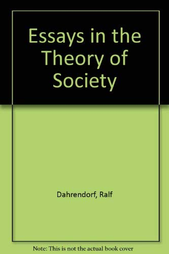 9780804702867: Essays in the Theory of Society