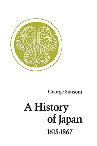 9780804705271: History of Japan, 1615-1867
