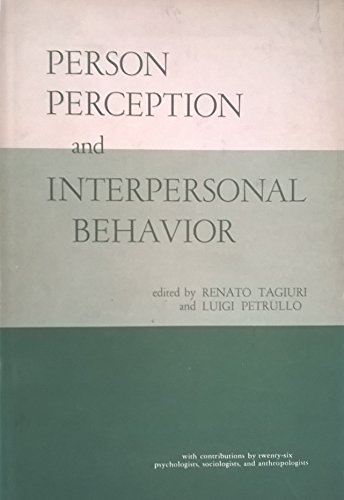 9780804705424: Person Perception and Interpersonal Behaviour