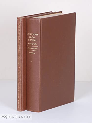 California Local History; A Bibliography and Union List of Library Holdings,: Rocq, Margaret Miller
