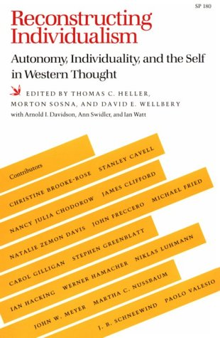 9780804712910: Reconstructing Individualism: Autonomy, Individuality, and the Self in Western Thought