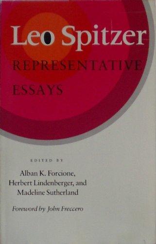 9780804718011: Leo Spitzer: Representative Essays