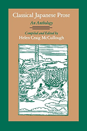9780804719605: Classical Japanese Prose: An Anthology