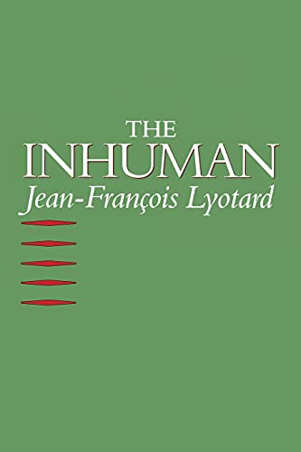 9780804720083: The Inhuman: Reflections on Time