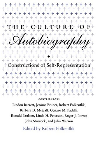 9780804720472: The Culture of Autobiography: Constructions of Self-representation (Irvine Studies in the Humanities)