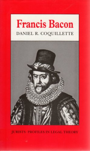 9780804720892: Francis Bacon (Jurists : Profiles in Legal Theory)