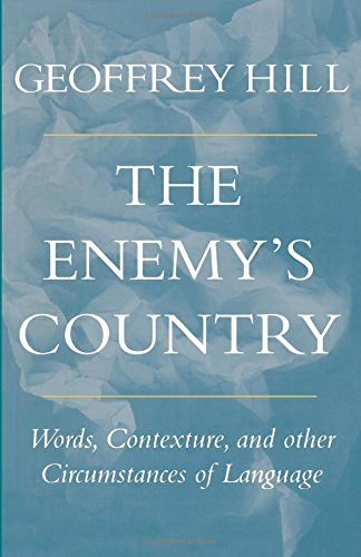 9780804723688: The Enemy's Country: Words, Contexture, and Other Circumstances of Language