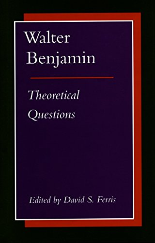 9780804725699: Walter Benjamin: Theoretical Questions