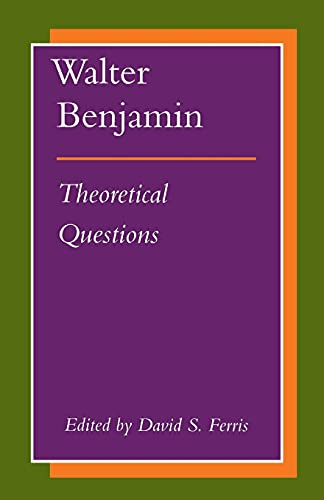 9780804725705: Walter Benjamin: Theoretical Questions