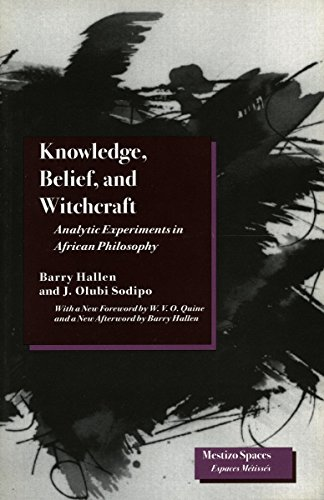 9780804728225: Knowledge, Belief, and Witchcraft: Analytic Experiments in African Philosophy (Mestizo Spaces / Espaces Métissés)