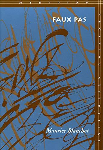 9780804729345: Faux Pas (Meridian: Crossing Aesthetics)