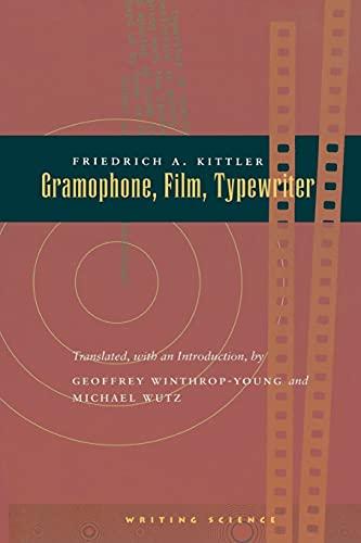 9780804732338: Gramophone, Film, Typewriter (Writing Science)