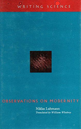 9780804732352: Observations on Modernity (Writing Science)