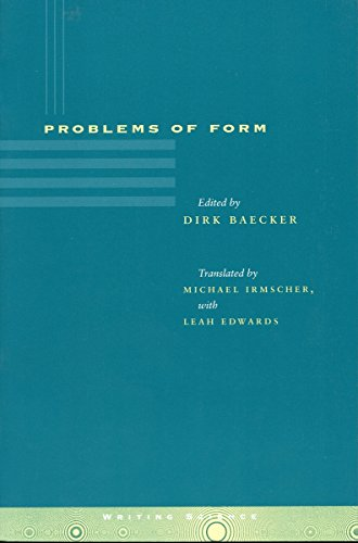 9780804734233: Problems of Form (Writing Science)