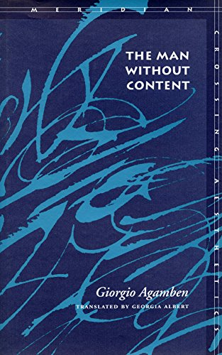 9780804735537: The Man Without Content (Meridian: Crossing Aesthetics)