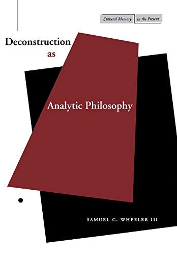 9780804737524: Deconstruction as Analytic Philosophy (Cultural Memory in the Present)