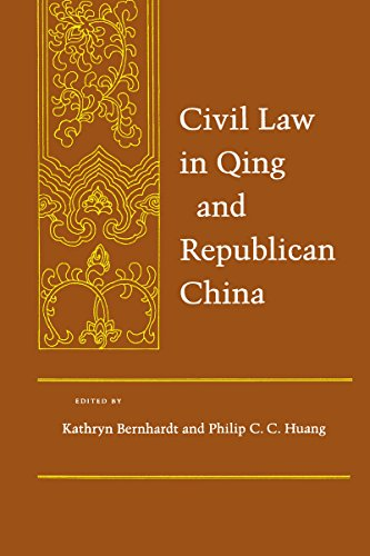 9780804737791: Civil Law in Qing and Republican China (Law, Society, and Culture in China)