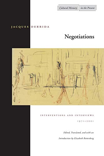9780804738927: Negotiations: Interventions and Interviews, 1971-2001 (Cultural Memory in the Present Series)