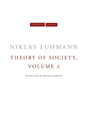 9780804739498: Theory of Society: 1