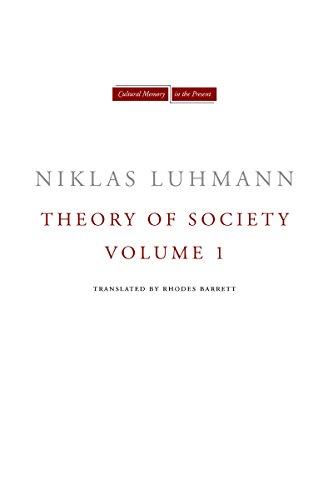 9780804739504: Theory of Society: 1