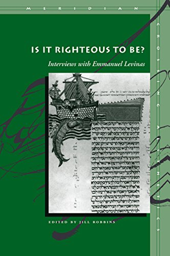 9780804743082: Is It Righteous to Be?: Interviews with Emmanuel Levinas (Meridian: Crossing Aesthetics)