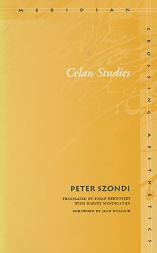 9780804744010: Celan Studies (Meridian: Crossing Aesthetics)